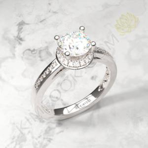 Classic Halo Channel Diamond Engagement Ring – RH205